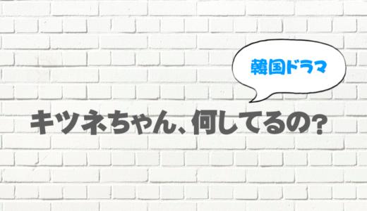 韓ドラ「キツネちゃん、何してるの?」を日本語字幕で無料視聴したい!9tsuやdailymotionで見れる?